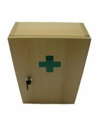 Lékárnička nástěnná dřevěná přírodní do 15 osob