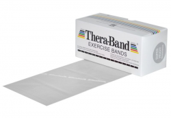 THERA-BAND posilovací guma 5,5 m, stříbrná, super silná