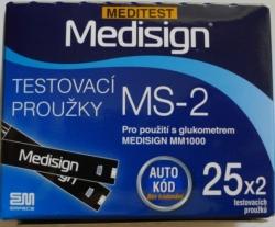 Testovací proužky Meditest Medisign MS-2 pro MM1000 50ks