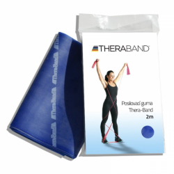 THERA-BAND posilovací guma 2m, modrá, extra silná
